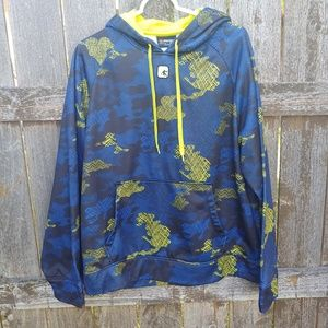 And1 Blue Camo Hoodie Large